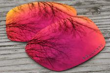 Polarized Purple Fire Red Sunglass Lenses for Oakley Jupiter Squared - Dark Tint