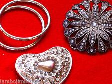 Hebillas de acero elegante y anillos de gran tamaño para cinturones