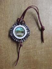 Kompass für Lederhose  Hirschhorn Optik Lederriemen Schmiedefeld