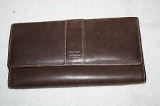 Coach Signature BrownTrifold Womens Wallet