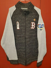 2XL Majestic Boston Red Sox 2018 World Series Champions Patches Full Zip Sweater