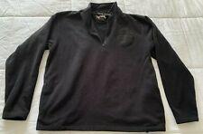 Harley Davidson Zip Collar Long Sleeve Pullover Fleece Jacket sz L