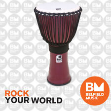 Toca 12'' Inch Djembe Red Freestyle Rope Tuned TF2DJ12R Percussion Drums