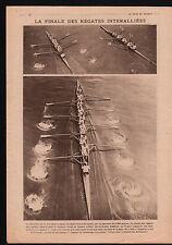 WWI London Maréchal Foch Général Weygand/Hostess-House/Régates 1919 ILLUSTRATION