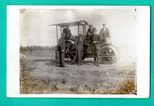 LATVIA LETTLAND PEOPLE AND The machine for laying asphalt VINTAGE PHOTO PC. 711