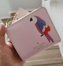 NWT Kate Spade Flock Party Small L-Zip Bifold Wallet Parrot $149