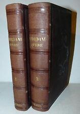 Prosa Letteratura Narrativa - Pietro Giordani: Opere 2 voll. 1857 Lemonnier