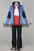Pokemon Platinum Diamond and Pearl Lucas Koki Outfit Game Cosplay Costume F006
