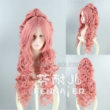 VOCALOID LUKA Sexy 90cm Long Pink Curly Ponytail Cosplay Wig Hair Party Wigs