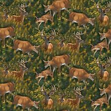Wild Wings Feast In The Valley Deer Coordinate 100% cotton fabric by the yard