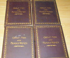 Great Men and Famous Women HC Book Set Complete 8 Volumes ~ Paged in Pairs 1894