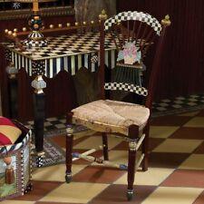 MacKenzie Childs Original Dark Flower Basket Chair