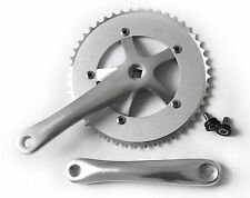 ESPRESSO 48T ALLOY CRANK SET FOR FIXIE FIXED BIKE - SILVER