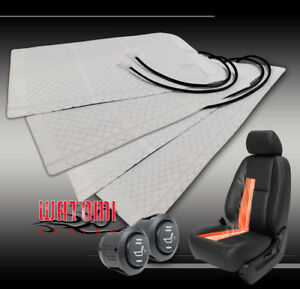 2X UNIVERSAL HEATED SEAT HEATER WARMER PADS W/ROUND HI/LOW SWITCH OUTLANDER VIBE