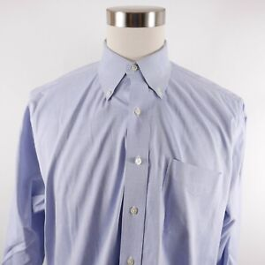 Brooks Brothers Mens Traditional Fit LS Button Down Light Blue Dress Shirt 17-34