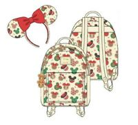 Disney Loungefly Mickey and Minnie Christmas Cookies Mini Backpack