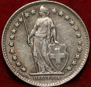1951 Switzerland 1/2 Franc Silver Foreign Coin