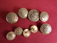 Vintage USAF US United States Air Force Corps Military Cuff Button / Button Lot