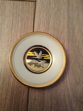 Collectable Art of Chokin Japan Small Plate - Swans