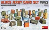 Allies Jerry Cans Set WW2 WWII Diorama Accesorios 1 :3 5 Plástico Modelo Kit