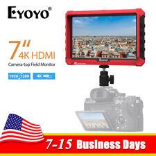 "Eyoyo A7S 7"" Full HD 1920x1200 IPS Screen DSLR Camera Top 4K HDMI Field Monitor"