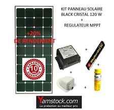 Kit panneau solaire 120w  12 V pour camping car Black booster + 20% de rendement