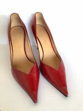 **CASADEI** SEXY Red Patent Leather Pointed Twist Heel Pumps