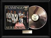 THE FLAMINGOS SERENADE WHITE GOLD SILVER PLATINUM TONE RECORD LP RARE NON RIAA