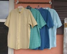 Lot of 4 L.L. Bean Wrinkle Resistant Button Front Shirts LargeTall Short Sleeve