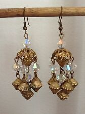 Handmade, Artisan, Vintage Chandelier Crystal Earrings by the Sassy Trashionista