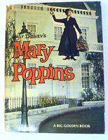 Mary Poppins 1964 Hardcover Book Walt Disney Big Golden Book