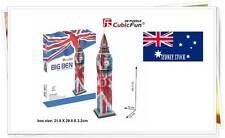 Big Ben Union Jack Flag DIY Educational 3D Puzzles Jigsaw Kids Adult 47 pieces