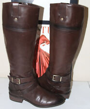 90c25ff5e2c  79 VINCE CAMUTO PAZELL DARK BROWN LEATHER KNEE HIGH BOOTS SZ 6 MSRP 229