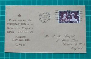 1937 Coronation of George VI  First Day Cover Lawford - LONDON EC