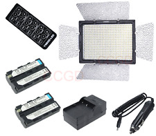 Yongnuo YN-600L LED Video Light Lamp + 2X NP-F550 for Canon Nikon  DV Camcorder