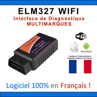 INTERFACE DIAGNOSTIQUE OBD2 WIFI ELM 327 OBDII DIAGNOSTIC OBD ANDROID IPHONE IOS