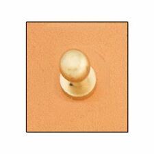 "Button Stud 1/4"" (7mm) Screwback Solid Brass 11309-53 by Tandy Leather"
