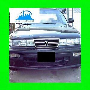 FITS 1991-1995 ACURA VIGOR CHROME TRIM FOR GRILL GRILLE 1992 1993 1994 91 92 93