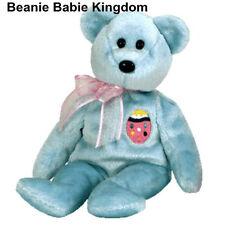 "TY BEANIE BABIE * EGGS II * THE BLUE EASTER TEDDY BEAR 8"""