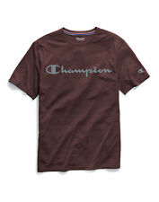 Champion Script Logo T-Shirt Men's Tee Double Dry Heather Mesh Textured Short