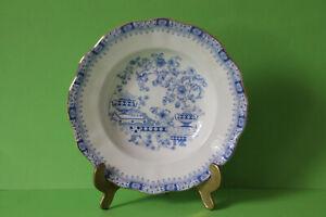 6 Seltmann Weiden Theresia China Blau Suppenteller Teller 23 cm 6 Stück