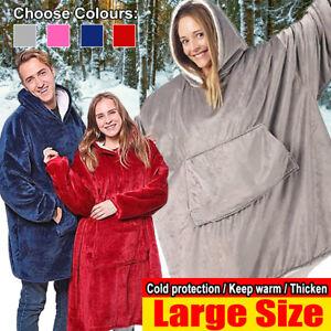 Plush Warm Blanket Hoodie Ultra Comfy Giant Sweatshirt Huggle Fleece With Hooded