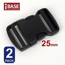 2x Quick Release Buckle Clip Side Cord Strap Fastener Belt Dual Adjustable 25mm