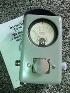 Bird 43 Thruline Wattmeter Watt Element Slug Reading Meter / VERY NICE