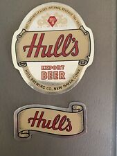 Vintage Hull's Export Beer And Neck Label Irtp New Haven, Conn
