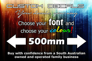 Custom Decal / Sticker up to 500mm long