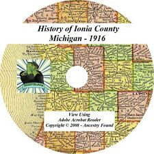 1916 History & Genealogy of Ionia County Michigan MI, Family Belding - Portland