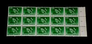 1964, INDONESIA #633, DEFINITIVE, TELETYPE, 7.50,TAB BLK/15, MNH, LOT #57, LQQK!