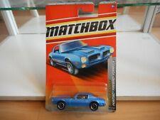 Matchbox Pontiac Firebird Formula in Blue on Blister