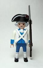 PLAYMOBIL ☆ CUSTOM FUSILERO REGIMIENTO INFANTERIA FIJO LUISIANA - PENSACOLA 1781